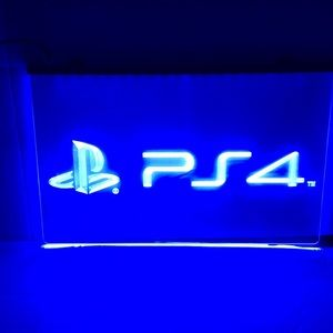 Play station 4 LED SIGN PLAY STATION 4 light